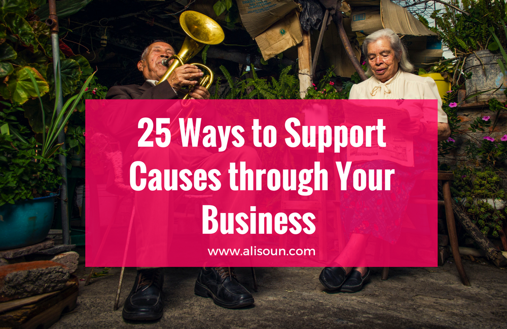 25 Ways to Support Charities, Non-Profits and Social Causes Through