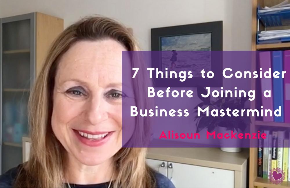 business mastermind, business mentoring, alisoun mackenzie